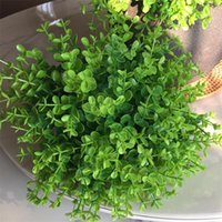 Decorative Flowers & Wreaths 20pcs 1 Dozen Simulation Green Plant Artificial Plastic Flower For Home Table Wedding Diy Candy Gift Box