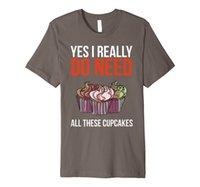 Tak, naprawdę potrzebuję wszystkich tych babeczek Funny Baker Prezent Premium T-shirt