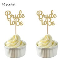Rose Gold Glitter Bride To Be Cupcake Toppers Diamond Crown 3D Wedding Dress Cake Toppers for Bridal Party Shower Supplies