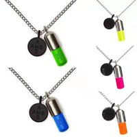 selling ins Direct net red ambush Black Friday limited fluorescent capsule pill Necklace