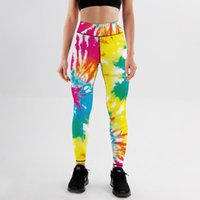 Women's Leggings Push Up For Fitness High Waist Workout Tie-dye Colorful Printed Tights Sport Woman Booty Scrunch Yoga Pants