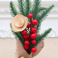 Mini Christmas Tree Creative Xmas Small Tree Decoration Tabletop Desktop Tree With Flower Atmosphere Decoration Christmas Party Gift NHD7380
