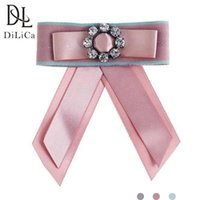 Pins, Brooches DiLiCa Fashion Crystal Flower Pins For Women Statement Tie Brooch Jewelry Clip Pin Up Accessories Broche
