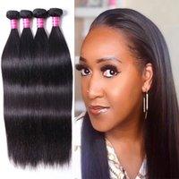 Unprocessed Peruvian Straight Virgin Hair Weaves 4 Bundles Peruvian Human Hair Extensions Straight Hair Weave Bundles
