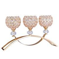 Кристаллические подсвечники 3 руки с держателем канделябров Декоративные центры для гостиной столовые украшения CF020