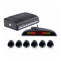 Wtyd för alarm PZ-300-6 bilparkering Växelväxlare och LED-sensorer Parkeringslarmhjälpssystem med 6 bakre radar