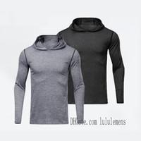 Лу леггинсы мужские футболки толстовки Йога капюшонов спортивный тренажерный зал носить LULU выравнивание эластичные фитнес колготки тренировки мужчины