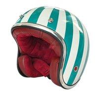 دراجة نارية الخوذ موتوكروس ماسي روبي خمر خمر نصف فتح الوجه abs casque 501 أحمر