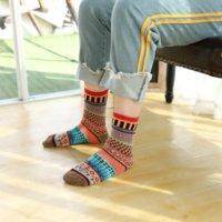 IOPG Automne et hiver Personnalisé Nation chaleureuse Groupe ethnique Groupe national Style national Coton épaissie chaussettes de coton chaud