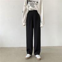 Women's Pants & Capris Brangdy Women Suit Spring Office Lady Long Trousers 2021 Autumn Solid Loose High Waist Pant Vestodo Female