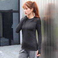Yoga Outfits Clothes Tops Women's Fashion Gauze Running Sports Fitness Suit Long Sleeve