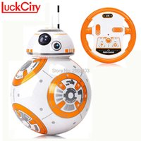 Fast delivery Version BB-8 Ball 20.5 cm RC BB 8 Droid Robot 2.4G Remote Control BB8 Intelligent Robot Action Figure Model RC Toy H1013