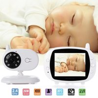 """Jeu de baby-sitter vidéo de 3,5 """"Babysitter vidéo avec caméra de sécurité couleur Vision nocturne 2 voies Temps de conversation Température Cherllabies Moniteurs"""
