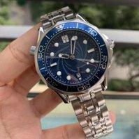 Erkek Saatler Mekanik Profesyonel James Bond 007 Mavi Otomatik Hareketi İzle Erkek Erkekler Tasarımcı Moda Master Saatı