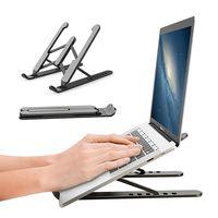P1 Tragbare Laptop-Ständer Faltbare Unterstützung Base Notebook-Ständer für MacBook Pro Lapdesk Computerhalter Kühlklammer Riser X1