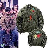CPFM.xyz Мы хорошая мужская куртка вышивка смайлик лица пальто мотоцикл бомбардировщик толстая куртка Kanye Windbreaker C0401