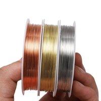 1 لفة المعادن الأسلاك النحاسية الديكور سلك ديا 0.2 0.3 0.4 0.5 0.6 0.7 0.8 1 ملليمتر سلك الديكور للمجوهرات صنع jlleke