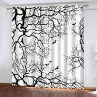 Пользовательские черные ветви занавески 3D окна для гостиной спальня занавески занавески