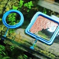 Aquários impedem a alimentação flutuante em todos os lugares aquário quadrado círculo alimentando o alimento da estação de tanque de peixes