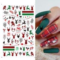 مسمار الفن ملصقات عيد INS عيد الميلاد ندفة الثلج ثلج الأيائل يترك 3d لاصق مسمار ملصق مسمار
