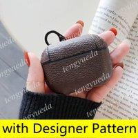 Modedesigner Airpods Hüllen für Kopfhörer Pro 1 2 Hohe Qualität Fall Luxus Buchstaben Gedruckt Protection Package Hook Headsets Taschen