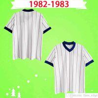1982 1983 Futbol Formaları Retro 82 83 Uzakta Beyaz Vintage Gascoigne Albertz Ferguson Klasik Futbol Gömlek Üst Üniformalar Tay Kalite S-2XL