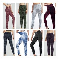 2021 Newest yoga suit pants camouflage multi-color High Waist Sports tights Raising Hips Gym Wear Leggings Align women Running