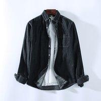 Camisa de mezclilla de llegada hombres elegante camisa de vaquero occidental hombres de alta calidad 100% algodón manga larga jeans lavado masculino zhl6240