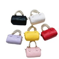 Girls Handbags Kids Bags Children Accessories Mother and Daughte Mini Chain Pearl Pu Leather Shoulder Messenger Bag Backpack B8437