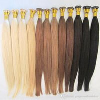 """16 """"-24 """" #613 I Tip Hair Extensions Human Platinum Blonde Tangle -Free I Tip Pre Bonded Keratin Hair Extensions 0 .5g S 100s Pack"""