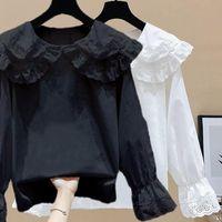 Women's Blouses & Shirts Women White Shirt Long Sleeve Blouse Office Lady Satin Silk Tops Plus Size Woman Basic