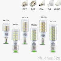 SMD5730 E27 GU10 B22 E12 E14 G9 LED Ampuller 7 W 9 W 12 W 15 W 18 W 110 V 220 V 360 Açı LED Ampul LED Mısır Işık