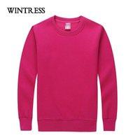 Women's Hoodies & Sweatshirts WINTRESS Winter Fleece Women Pullover Sweatshirt Large Size Top Long Sleeve Round Neck Pure Color Mujer
