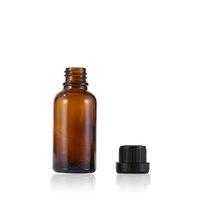 Garrafa do conta-gotas do óleo essencial de vidro vazio 5ml 10ml 15ml 20ml 30ml 50ml Recipientes de embalagem cosméticos âmbar