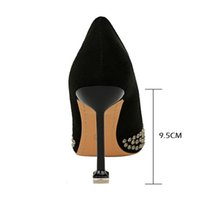 Dress Shoes Women's high heels with rivets, sexy, wedding shoes, women's, stiletto style, large size 43, plus JR3P