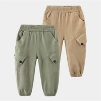 Casual Cargo Trouser for Boys Kids Cotton Pants Spring Autumn Teenager Boys Joggers Clothing 3-10 Years Student Sweatpants 210414
