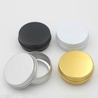 1Oz 30ml Aluminum Cosmetic Bottle Screw Lid Round Aluminium Jar Cans Makeup Empty Lip Balm Cosmetics Container