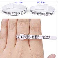 50PCS Sizer UK USA British American European Standard Size Measurement Belt Rings Ring Finger Screening Jewellery Tool