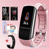 Designer luxo marca relógios inteligentes mulheres homens temperatura corporal rastreador de fitness rastreador cardíaco monitor relógio para andriod ios