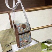 2021 female new double G mobile phone fashion 1955 Mini Hand Messenger Bag Wallet Key bag