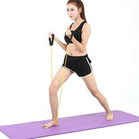 Resistance Bands Fitness Workout Tension Rope With Handle Elastic Pull Home Bodybuilding Training Yoga Strap 5-10LB