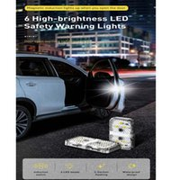 Auto Door Warning Light Safety Anti-Collision Flash Lights Wireless Magnetic Signal Lamp LED Night Lamps Car Bulbs 4PCS Set