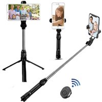 Wireless bluetooth Selfie Stick Tripod Remote Palo Handphone Live Photo Holder Tripod Camera Monopod Self-Timer Artifact Rod