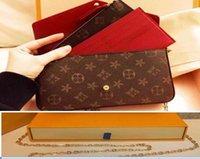 Top Qualität Brieftasche Leder Patchwork Messenger Bag Frauen Weibliche Kette Strap Umhängetaschen Damen Flap Bao Geldbörse mit Handtaschen # 588