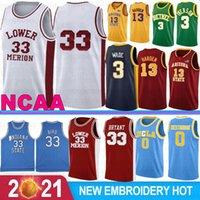 13 Härten NCAA Campus Bear Ucla Basketball-Trikots Russell 0 Westbrook Reggie 31 Miller College Herren Wade 33 Allen 3 Iverson Kevin 35 Durant Stock