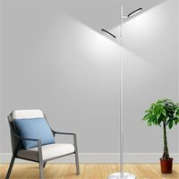 Industrial 20W 6000K Or Remote LED Floor Lamp 2 Lights 3 Color Temperature With Stepless Dimmer Reading Standing For Home Lamps
