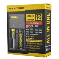 Nitecore I2 Universal Charger para 16340/18650/14500/26650 Bateria UE UE UK Plug 2 em 1 Intellicharger Battery Charger Ups