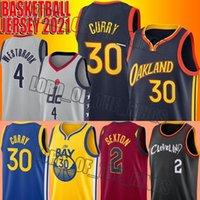 Basketball Stephen 30 Jersey Curry Russell 4 Westbrook Jerseys Collin 2 Sexton Jersey James 33 Wiseman Jerseys