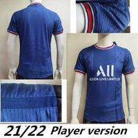 21/22 2021 HOME-Player-Version # 7 MBAPPE Fussball Jersey 2020 Dritte White # 10 Soccer-Shirt Verratti Fußballuniformen