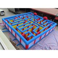 المحمولة في الهواء الطلق الكبار الاطفال نفخ المتاهة، 9x9m العملاقة نفخ puzzel متاهة كرنفال لعبة